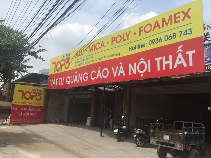 cửa hàng bán alu mica